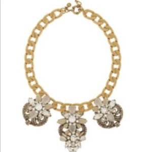 J.Crew. Station Deco Gold Tone Crystal Necklace
